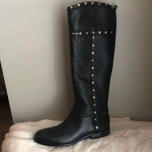 NIB Mae riding boot black w gold studs